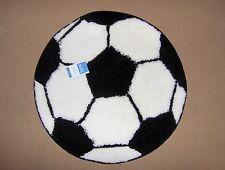 Small Kids Novelty Round Footy Football Rug, Black & White