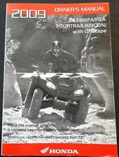 2009 HONDA ATV TRX680FA/FGA FOURTRAX RINCON OWNERS MANUAL NICE  (261)