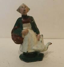 La Ferme Becassine et son oie en Plomb Creux 1920-30 Tres Bel Etat (#6)