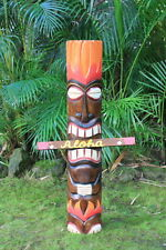 "40"" GOD OF FIRE  TIKI TOTEM - HAND PAINTED - SURF DECOR Exotic Polynesian Decor"