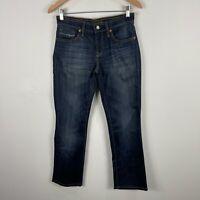 Mavi Womens Jeans Size W26 Blue Denim Straight Leg Mid Rise Hemmed