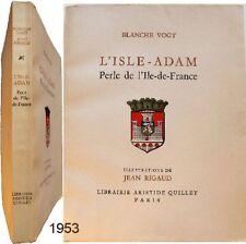 L'Isle-Adam perle Ile de France 1953 Blanche Vogt Jean Rigaud Val d'Oise num.
