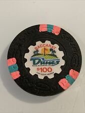 DUNES $100 BACCARAT Casino Chip Las Vegas Nevada 3.99 Shipping