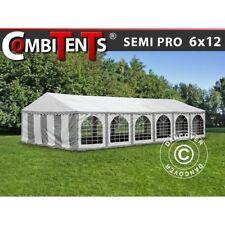 Dancover Semi pro plus Combitents Partyzelt 6x12m Festzelt Gartenzelt grau