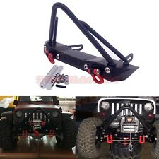 RC 1/10 Axial SCX10 RCWD D90 METAL Front Bull Bumper Set With Tow Shackles Black