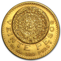 1918 Mexico Gold 20 Pesos XF - SKU #83576