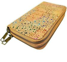 Women's Cork Clutch Purse/Wallet, Rainbow, Detachable Strap, Vegan, Eco+