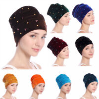Women Fashion Velvet Cancer Chemo Cap Hijab Turban Hat Head Wrap Scarf