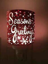 "Authentic Scentsy Warmer ""SEASONS GREETINGS"" Plug In. Holiday Edition"