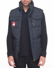 New Men's Canada Weather Gear Quilted Collar Insulated Vest Black Size X-Large