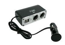 Adaptador Cargador Ladron Conversor Doble USB 2 Mechero Coche 5v 12v 24v DC 2072