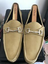 Gucci Mens Tan Driving Loafers Buttery Soft 10.5