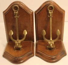 Pair Nautical Book Ends Brass Functional Anchor
