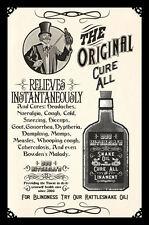 Enmarcado década de 1800 Medicina impresión: aceite de serpiente la imagen médica Original cura todos ()