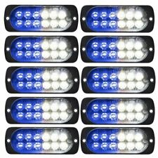 10X White Blue Strobe Light Bar Car Truck Beacon Flashing Warn Hazard Emergency