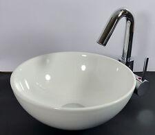 Kleines Landhaus Keramik Aufsatz Waschbecken Waschschale 28cm rund Gäste Bad WC