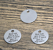 10pcs god has you in his arms heart charm silver tone message pendant 20mm
