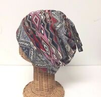 Lot 2 Women Soft Knit Beanie Cap Hats Winter Neck Warmer Head wrap Multi Color