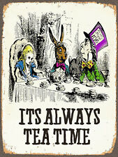 Son toujours l'heure du thé, retro metal sign vintage/MAN CAVE