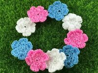 Daisies Crochet Flowers Summer Handmade Applique Embellishments Craft 6 Petal