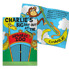 Personalised Alphabet ZOO Story Childrens Softback Book Gift For Girls Boys