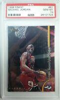 1998 Topps Finest Michael Jordan #81, Chicago Bulls, Graded PSA 10 GEM MINT