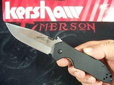 KERSHAW EMERSON - CQC-6K Hinderer frame-lock G-10 knife stonewash wave KAI 6034