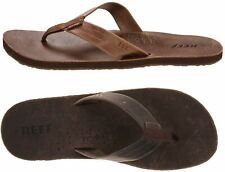 Reef Mens Leather Sandals Draftsmen Bottle Opener Flip Flops