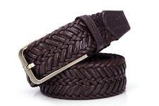 Septwolves women men Belt weave Braid pin Lock Buckle knitted brown 70133086-15