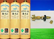 R-12, Refrigerant 12, Dichlorodifluoromethane, (3) 20 oz., CGA600 Taper On/Off