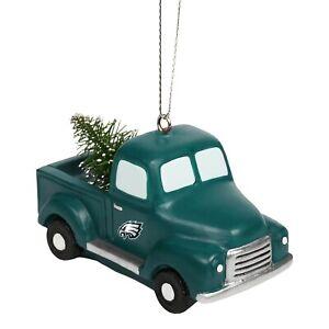 Philadelphia Eagles Truck with Tree Christmas - Tree Holiday Ornament FREE SHIP