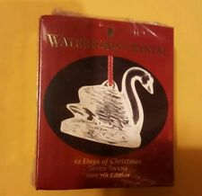 12 DAYS OF CHRISTMAS SEVEN SWANS SWIMMING WATERFORD CRYSTAL ORNAMENT 2001 *NEW*