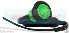 "12V/24V GREEN SMALL 1"" ROUND LED BUTTON MARKER LAMP/LIGHT UNIVERSAL MARINE CAR"