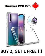 For Huawei P20 Pro Clear Bumper TPU Transparent Rubber Soft Silicone Case Cover