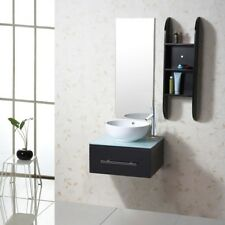 Wall Mount Bathroom Vanity White ceramic Sink Espresso or gray Vanity cabinet 24