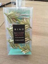 Bono Shower Curtain Hooks-Polished Chrome Finish-Beautiful Tropical Green Leaf's