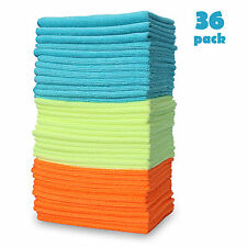 Microfiber Cleaning Cloth Set of 36 Towel Rag Car Polishing No Scratch Detailing
