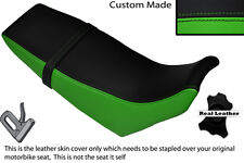 BLACK & GREEN CUSTOM FITS YAMAHA DT 125 RE 04-07 DUAL LEATHER SEAT COVER