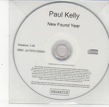 (DS650) Paul Kelly, New Found Year - 2013 DJ CD