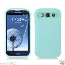 Samsung Galaxy S3 i9300 Hybrid Hard Case Skin Pastel Cover Light Green