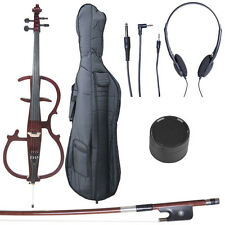 4/4 Electric Cello Full Size Ebony Style 2 ~Mahogany