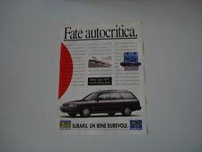 advertising Pubblicità 1993 SUBARU LEGACY 4WD