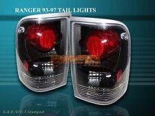 1993-1997 FORD RANGER SPLASH/STX/XL ALTEZZA TAIL LIGHTS BLACK 1994 1995 1996 NEW