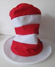 Dr Seuss Cat In The Hat 2000 Tall Red and White Felt Hat by Elope, Inc.
