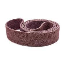 1 X 30 Inch Non Woven Surface Conditioning Sanding Belts -Maroon Medium - 3 Pack