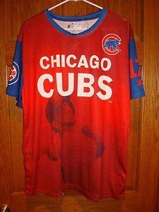 Chicago Cubs Kris Bryant #17 MLB  KLEW  Watermark  T-shirt Men's  Red XL New!