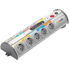 Steckdosen: 10-fach-Multimedia-Steckdosenleiste mit Überspannungsschutz
