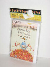 "Mary & Co Engelbreit 8 Note Cards Fall Thanksgiving Thanks 5.5"" x 3.5"" Nip"