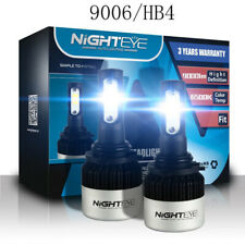 Nighteye 9006 HB4 LED Headlight Kit Replace Lamp Bulbs 72W 9000LM 6500K White