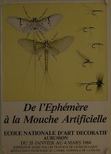 Affiche EPHEMERE A LA MOUCHE ARTIFICIELLE 1984 Exposition Aubusson